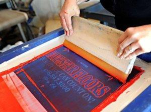 Atividade de Serigrafia, Silk screen.