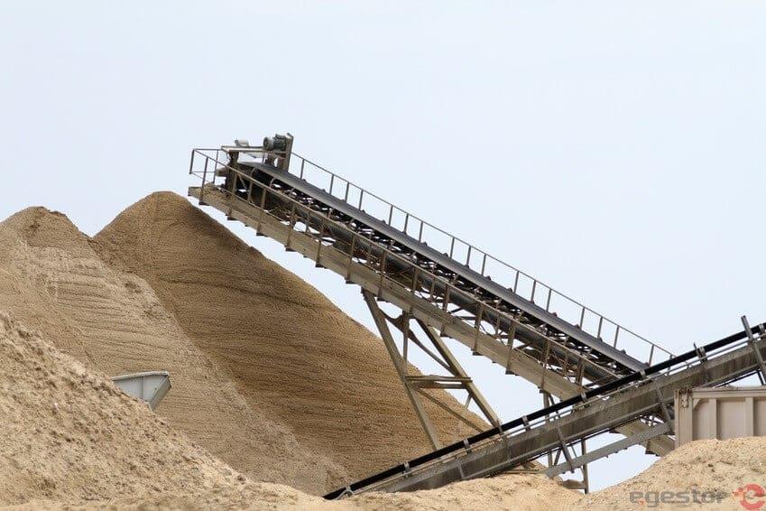 exploração de areia